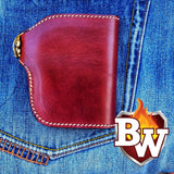"""Mahogany"" Leather Handmade 5 inch Biker Wallet."