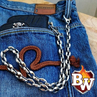 Bobber special Stainless Steel Biker Wallet Chain  | Custom Handmade Men's Leather Wallets at Biker-Wallets.com