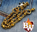 Skull Brass Biker Wallet Chain