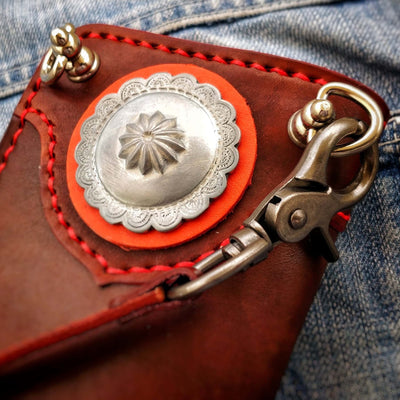 """Bullfighter"" 8"" Handmade Redmoon Leather Men's Biker Wallet"