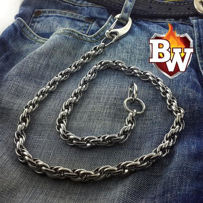 Calypso 316L Stainless Men's Biker Wallet Chain | Custom Handmade Men's Leather Wallets at Biker-Wallets.com