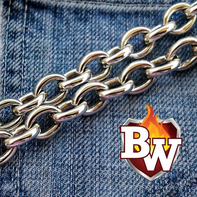 CLASSIC SILVER Classic .925 Silver Men's Biker Wallet Chain | Custom Handmade Men's Leather Wallets at Biker-Wallets.com