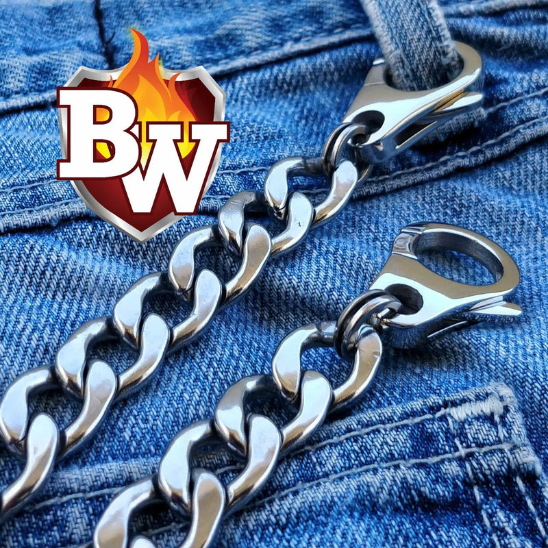 Classic Custom 316L Stainless Steel Men's Biker Wallet Chain | Custom Handmade Men's Leather Wallets at Biker-Wallets.com