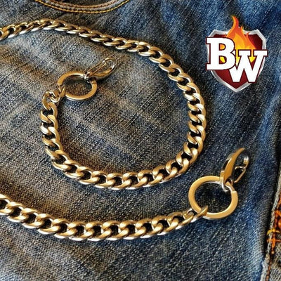 """Classic Small"" Custom 316L Stainless Steel Men's Biker Wallet Chain"