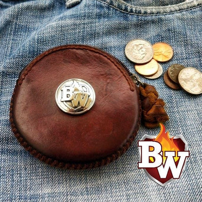 Coins 4-inch Biker Wallet Front Pocket Change Wallet | Custom Handmade Men's Leather Wallets at Biker-Wallets.com