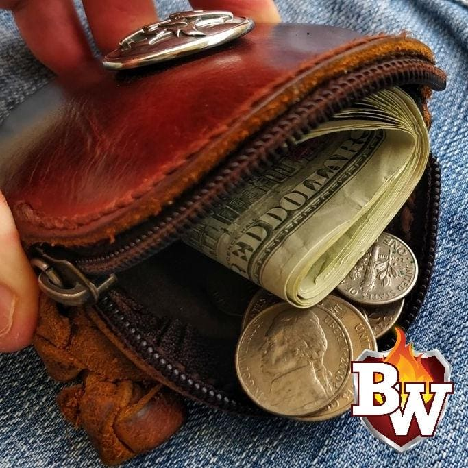 """Coins"" 4"" Biker Wallet Front Pocket Change Wallet"