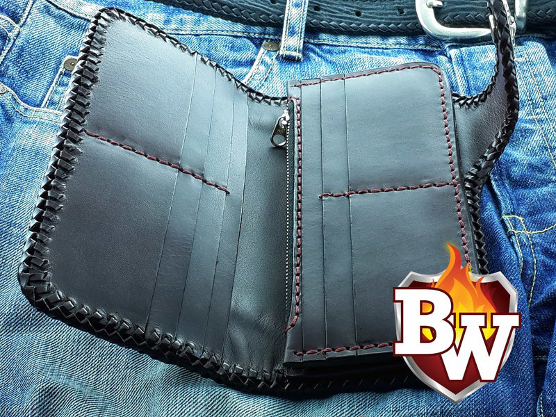 Cowboy 8 Custom Handmade Men's Biker Chain Wallet - Handcrafted Quality Genine Leather Backed by a 5-Year Warranty - Biker-Wallets.com