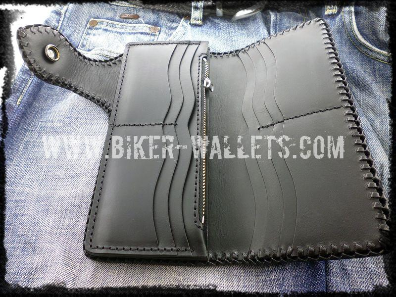 Crowley 8 Custom Handmade Biker Wallet - Handcrafted Quality Genine Leather Backed by a 5-Year Warranty - Biker-Wallets.com