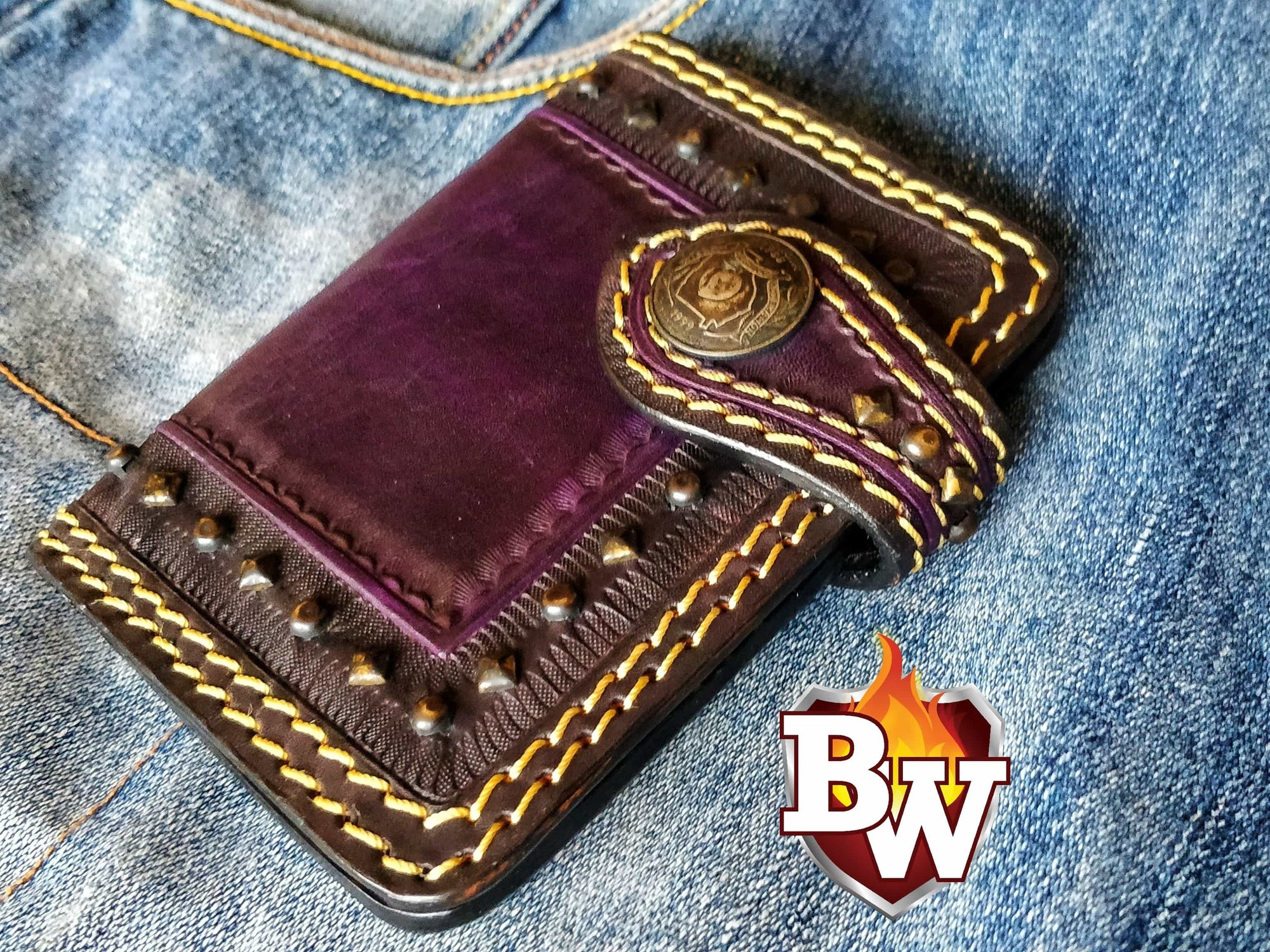 Desert Eagle Passport 5-inch Passport Biker Wallet | Custom Handmade Men's Leather Wallets at Biker-Wallets.com