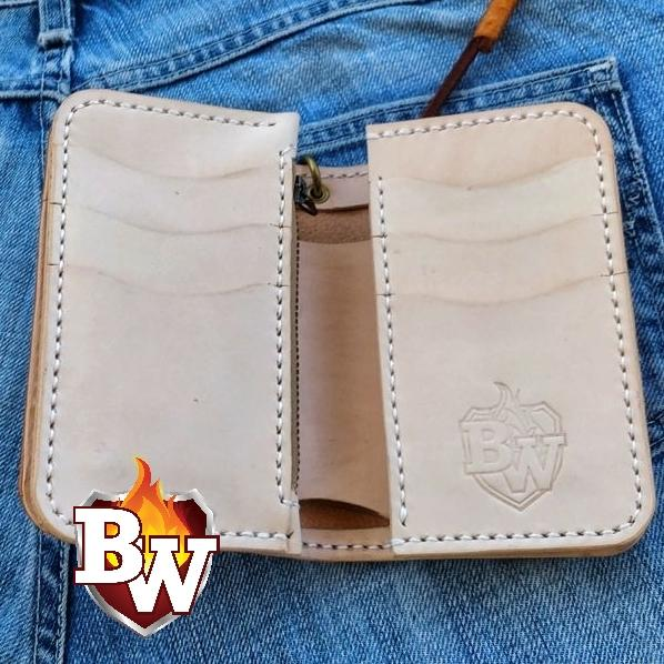 Driscoll 6-inch Leather Custom Handmade Men's Biker Wallet 6 Inch | Custom Handmade Men's Leather Wallets at Biker-Wallets.com