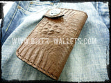 """Dundee"" 6"" Crocodile Men's Biker Wallet"