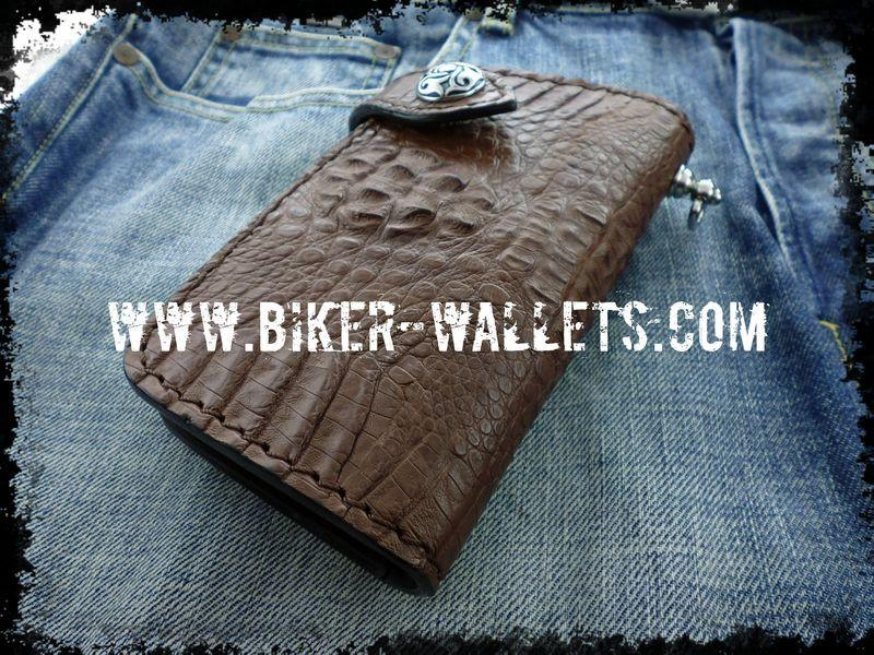 """Dundee"" 6"" Men's Biker Chain Wallet - Biker Wallets"