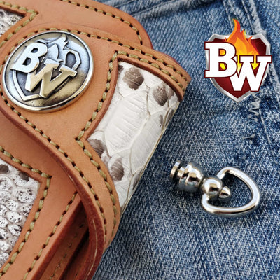 "The ""Durango"" 5"" Special  Handmade Leather Biker Chain Wallet"