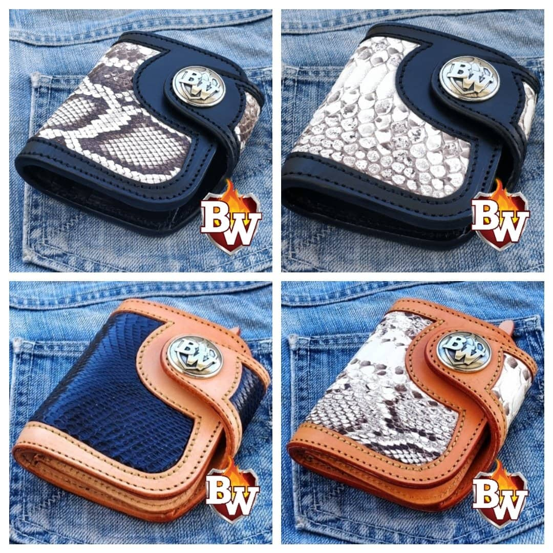 """Durango"" 5"" Special Handmade Leather Biker Chain Wallet"