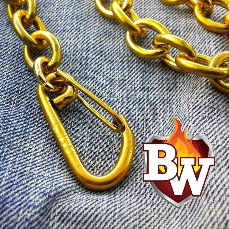 """El Brasso"" Custom BRASS Men's Biker Wallet Chain"