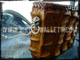 """Extreme"" 5"" Hand Stitched Custom Handmade Crocodile Men's Biker Wallet"