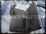 """Glock"" 6"" Custom Handmade Leather Men's Biker Wallet - Biker Wallets"