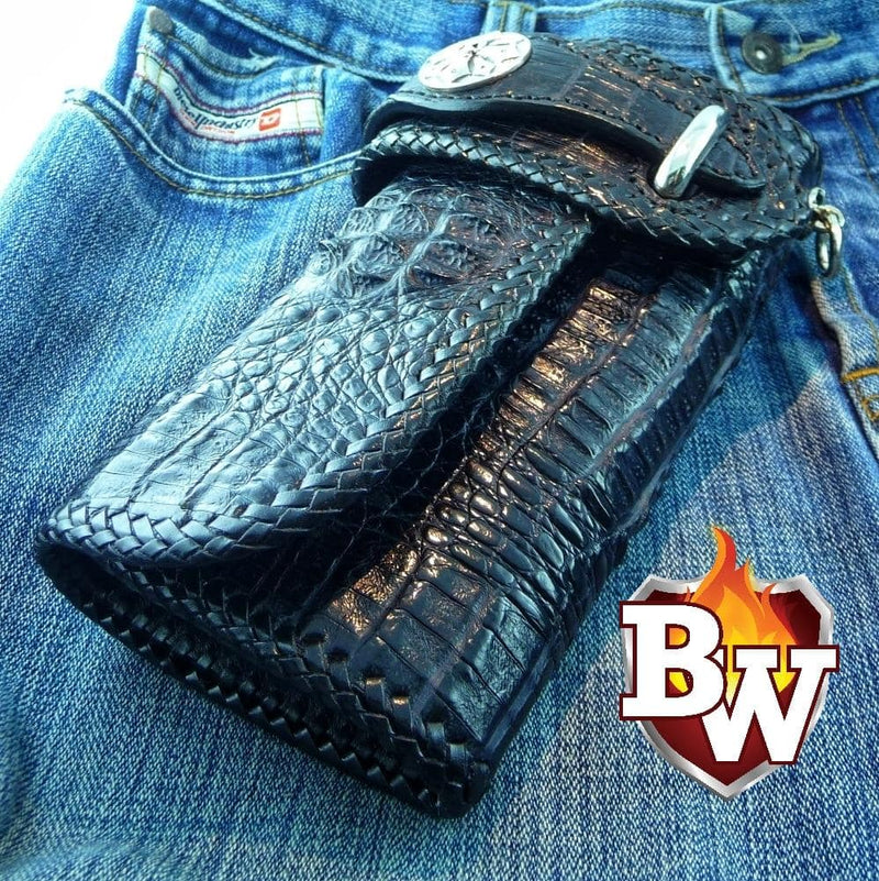 """Goliath"" 8"" Custom Handmade Men's Biker Chain Wallet"
