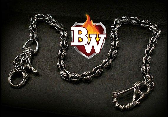 """Gothic"" Custom .925 Silver Men's Biker Wallet Chain"