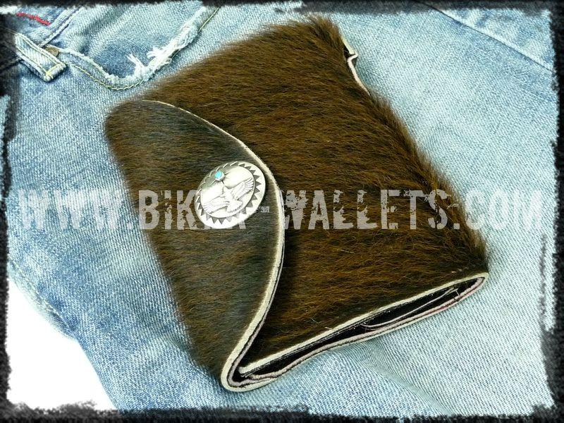 """Gremlin"" 5"" Custom Handmade Leather Men's Biker Wallet - Biker Wallets"