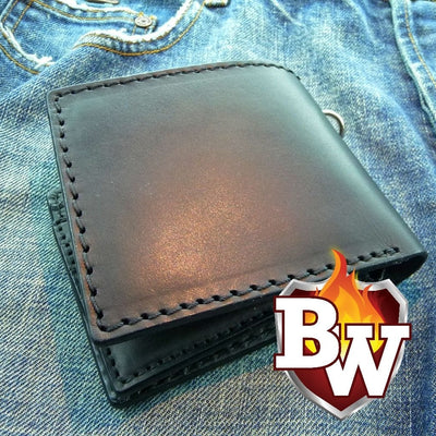 """Gumshoe"" 5"" Custom Handmade Leather Biker Wallet"