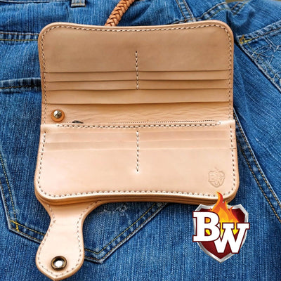 Custom Handmade 8-inch  Leather Men's Biker Wallet | Custom Handmade Men's Leather Wallets at Biker-Wallets.com