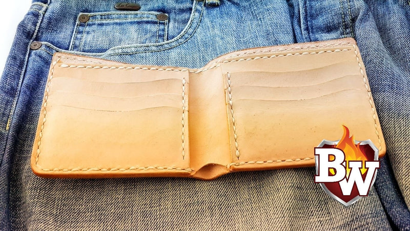"""Hitchhiker"" 4"" Custom Handmade Saddle Leather Biker Wallet"
