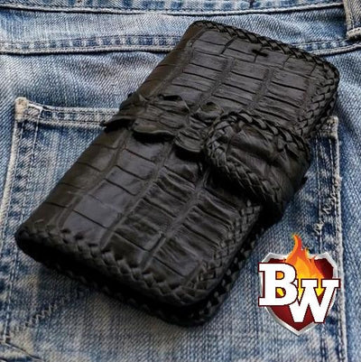 Brown Leather Style 1 iPhone Biker Wallet Case | Custom Handmade Men's Leather Wallets at Biker-Wallets.com