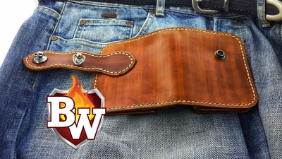 Joe Pesci 4-inch Leather  Biker Wallet | Custom Handmade Men's Leather Wallets at Biker-Wallets.com