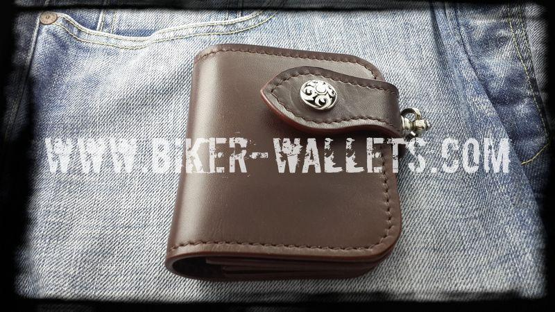 """Joe Pesci"" 4"" Leather Handmade Custom Biker Wallet"
