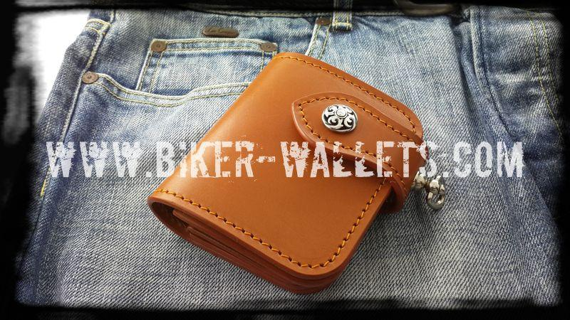 """Joe Pesci"" 4"" Leather Custom Handmade Biker Wallet"