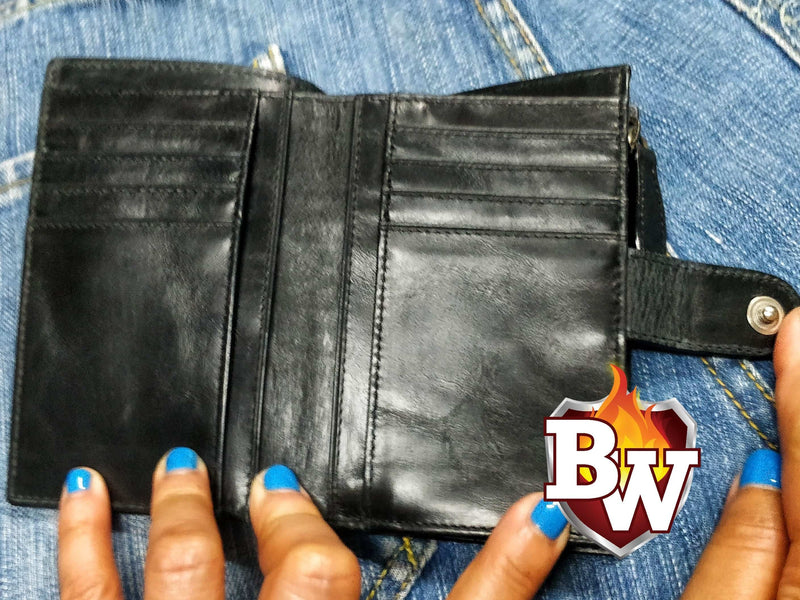 """John Wick"" 5"" Hammerhead Shark Skin and Italian Leather Biker Wallet"