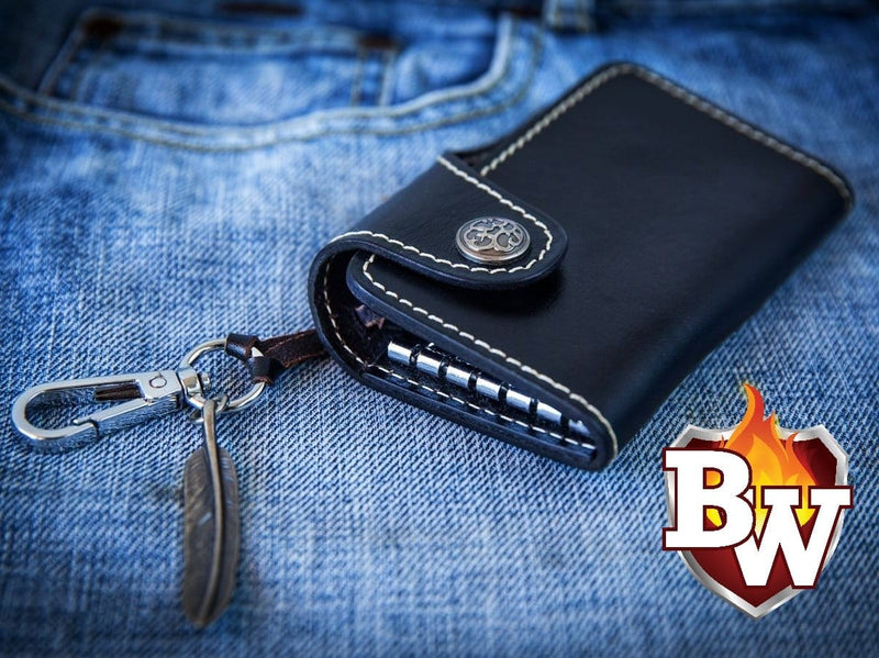 Leather Biker Keychain Wallet