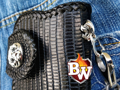 The Komodo Dragon  Biker Wallet | Custom Handmade Men's Leather Wallets at Biker-Wallets.com
