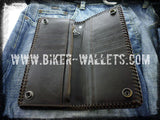 Mad Max 3 Brown 8 Custom Handmade Leather Men's Biker Wallet - Handcrafted Quality Genine Leather Backed by a 5-Year Warranty - Biker-Wallets.com