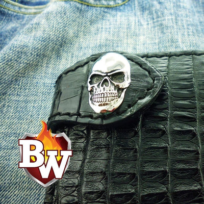 Maltese Falcon 4-inch Men's  Biker Chain Wallet | Custom Handmade Men's Leather Wallets at Biker-Wallets.com