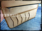 """Leather Master"" 8"" Custom Handmade Leather Men's Biker Wallet"