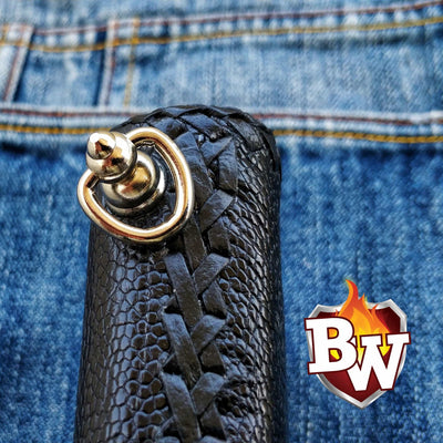 Ostrich Leg 8-inch  Ostrich Men's Biker Wallet | Custom Handmade Men's Leather Wallets at Biker-Wallets.com
