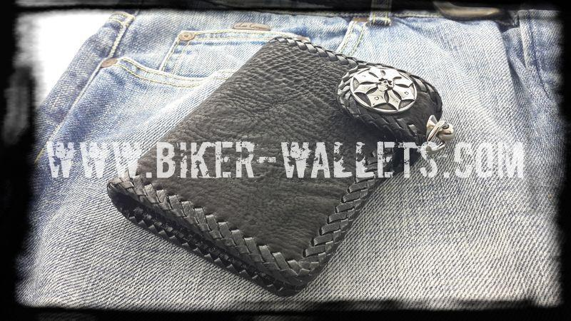 """Sniper"" 5"" Shark Custom Men's Handmade Biker Wallet"