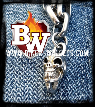 Oval 316L Stainless Steel Biker Wallet Chain | Custom Handmade Men's Leather Wallets at Biker-Wallets.com