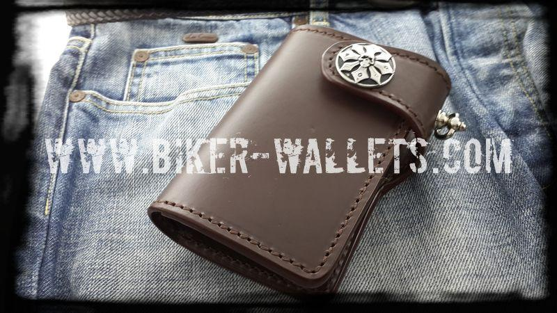 """Ranger"" 6"" Leather Custom Handmade Biker Wallet - Biker Wallets"