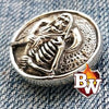 Skulls  .925 Silver Snap Concho Cap for Biker Wallet | Custom Handmade Men's Leather Wallets at Biker-Wallets.com