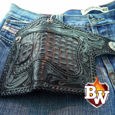Reaper 6-inch Pip Squeek  Men's Biker Chain Wallet | Custom Handmade Men's Leather Wallets at Biker-Wallets.com