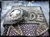 """Ride To Live"" 8"" Custom Handmade Stingray Men's Biker Wallet - Biker Wallets"
