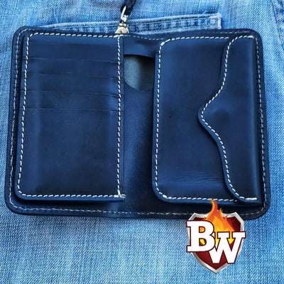 Roadster 6-inch  Leather Men's Biker Wallet | Custom Handmade Men's Leather Wallets at Biker-Wallets.com