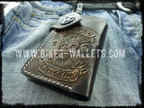 """Rock and Roll"" 6"" Custom Handmade Leather Men's Biker Wallet - Biker Wallets"