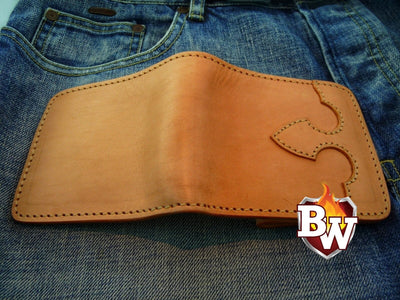 Runaway 4-inch  Biker Chain Wallet | Custom Handmade Men's Leather Wallets at Biker-Wallets.com