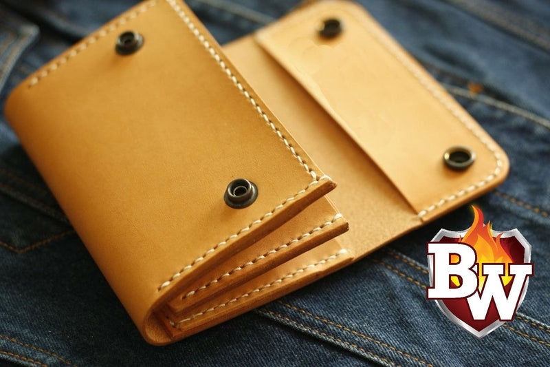 """SAVAGE"" 6"" Italian Leather Biker Wallet"