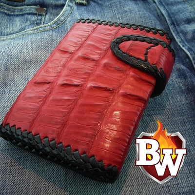 Secret Agent 5-inch Custom Handmade Trifold Biker Wallet | Custom Handmade Men's Leather Wallets at Biker-Wallets.com