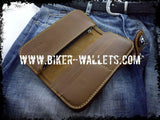 Slim 7 Brown Custom Handmade Leather Men's Biker Wallet - Handcrafted Quality Genine Leather Backed by a 5-Year Warranty - Biker-Wallets.com
